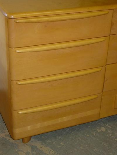 Heywood-Wakefield Solid Maple Champagne Triple Encore Dresser M529