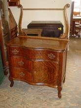 Innes Pearce & Company Antique 1/4 Sawn Tiger Oak Washstand Commode
