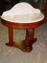 Antique Mahogany Demilune Hall Table