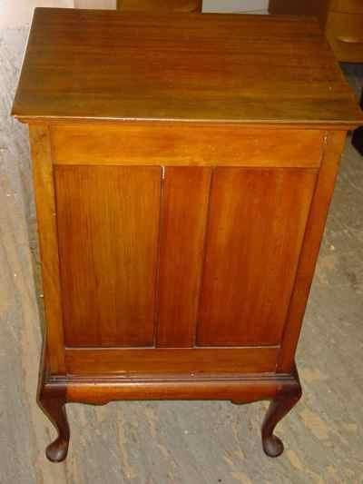 English Stones Patent Antique Solid Mahogany Music Cabinet