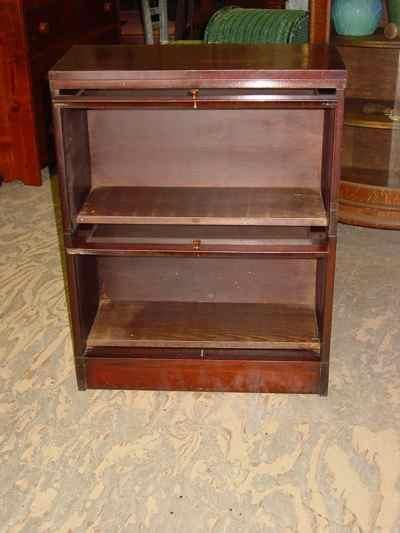 Antique Solid Mahogany Sectional Barrister Stack Bookcase