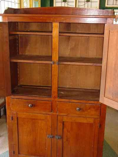 Antique Solid American Black Walnut Cupboard