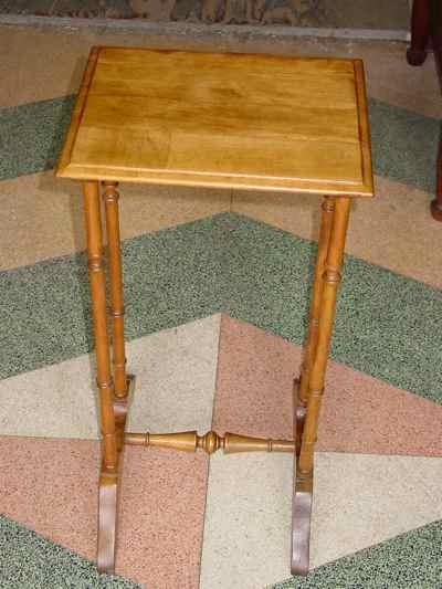 English Antique Solid Birch Side Table