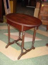 Antique Victorian Solid Walnut Side Table