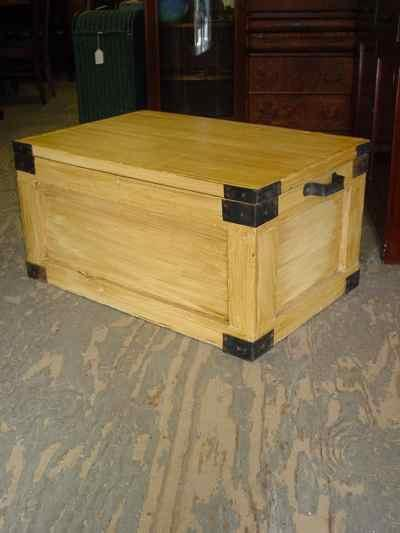 Antique Solid Pine Grain Painted Trunk