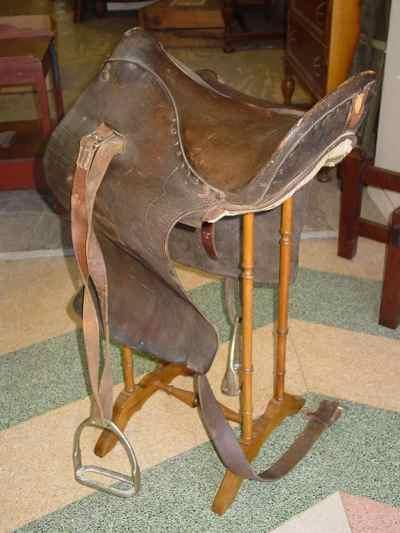 English Antique Leather Riding Saddle