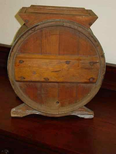 Antique New Style White Cedar 3 Gallon Cylinder Churn No 1