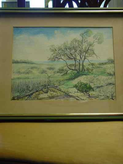 Rachel Beebe Original Signed Landscape Watercolor on Paper