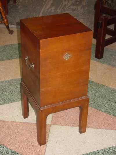 Antique Solid American Black Walnut Cellarette