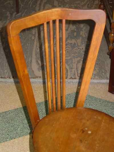 Antique Tonk Manufacturing Company Solid Walnut Music Chair