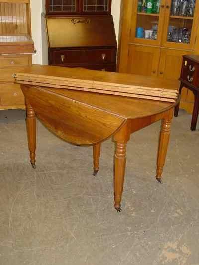 Antique Solid Oak Drop Leaf Extension Table