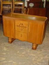 Harris Lebus Vintage Art Deco Style 1/4 Sawn Tier Oak Sideboard/Buffet
