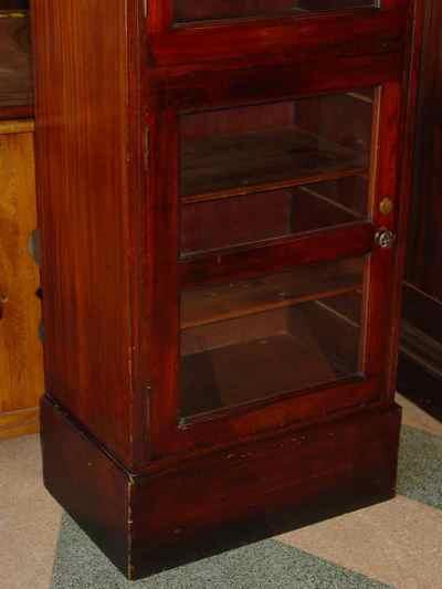 Antique Solid Mahogany Medical Instrument Cabinet