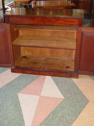 English Antique Victorian Mahogany Credenza Cabinet Server