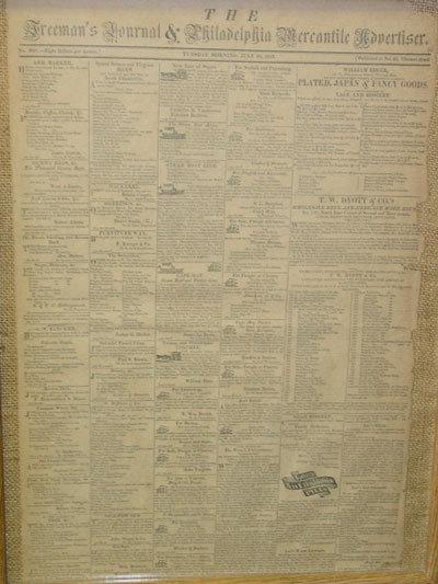 The Freeman's Journal & Philadelphia Mercantile Advertiser, July 30, 1816