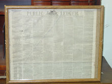 Framed Philadelphia Public Ledger, November 27, 1865, Featuring a Letter from President Andrew Johnson