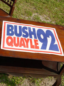 American Original Bush and Quayle Political Advertisement