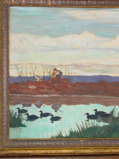 The Duck Hunt Original Oil On Board