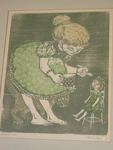 Carrot-Top Artist Signed Woodblock Print