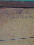 Boathouse & Birches Original Signed Lorena B. Lynch Oil on Board