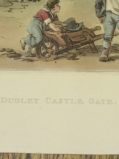 Dudley Castle Gate, William Pickett Engraving, R. Bowyer Publishing