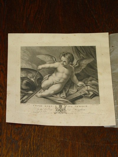 Cupid Burning Armour, G. White Engraving, Boydell Publisher