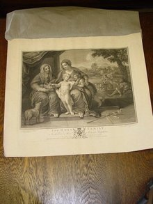 The Holy Family, J.K. Sherwin Engraving, Boydell Publishing
