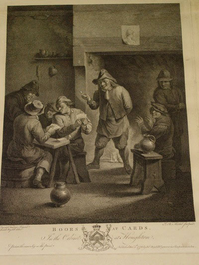 Boors at Cards, J. B. Michel Engraving, Boydell Publishing