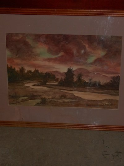 Big Sky Twilight Original Signed Rohn Watercolor