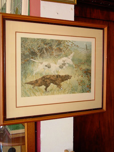 Steady, Framed Thomas Blinks Lithograph