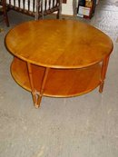 Heywood Wakefield Ashcraft 2-Tiered Round Coffee Table