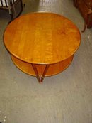 Heywood Wakefield Ashcraft 2-Tiered Round Coffee Table