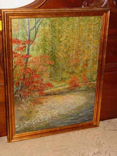 Along the Blue Ridge Trail, Original Murray Scott Signed Oil on Canvas