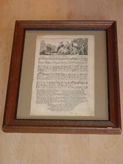 Jenny of the Green, Framed Antique Engraving