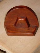 Set of Mid-Century Modern Solid Mahogany Bookends