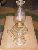 Vintage P&A Eagle Burner Pedestal Finger Oil Lamp