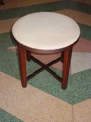 Art Deco Solid Cherry Vanity Stool