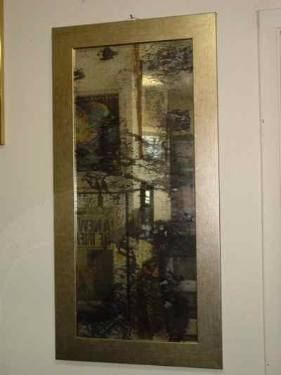 Antiqued Distressed Mirror