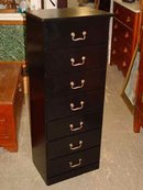Painted Black Solid Pine Lingerie Chest