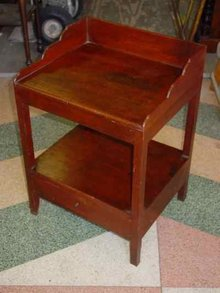 Antique Cherry Two-Tiered Side Table