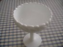 White Milk Glass Compote