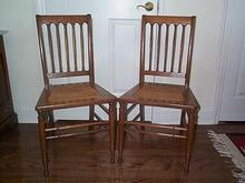 Golden Oak Chairs (Set of 2)
