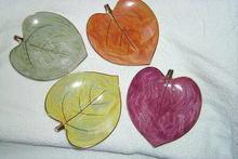 Individual Lusterware Hors d'oeurvre Plates, Set of 4