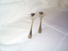 Silverplate Salad Serving Fork and Spoon Set