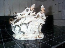 White-Porcelain Compote w/Lid