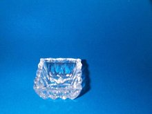 Open Square Crystal Glass Salt