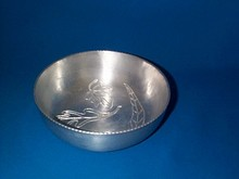 Aluminum Hand-Hammered bowl