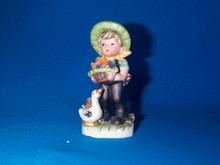 English Bisque Porcelain Figurine (Boy With Duck)