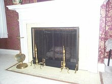 Solid Brass Fireplace Stand w/Brass Ash Shovel