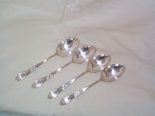 Silverplate Serving Tablespoons, Set of 4